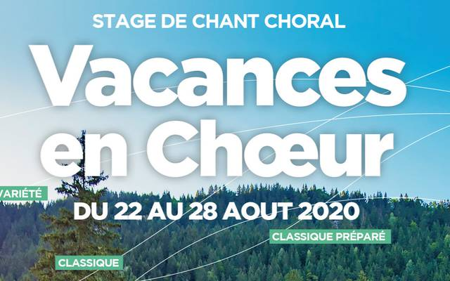 """Annulé : Semaine de chant choral """"Vacances en chœur"""""""
