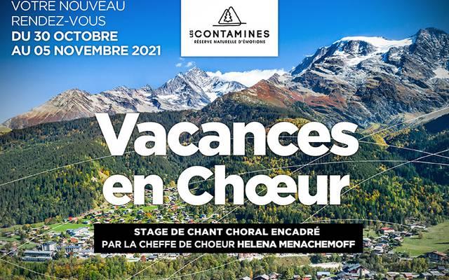 """Semaine de chant choral """"Vacances en chœur"""" du 30 octobre au 5 novembre 2021"""