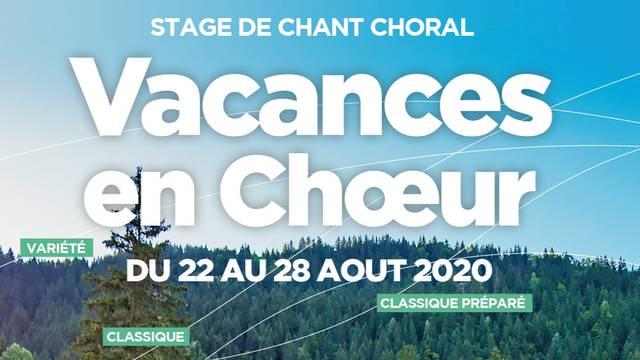 """Semaine de chant choral """"Vacances en chœur"""""""