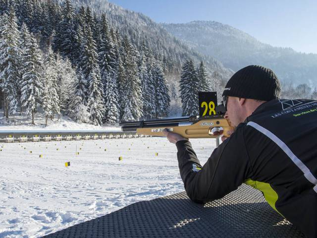 Biathlon at the Nordic Park in Les Contamines-Montjoie. - © Gilles Lansard
