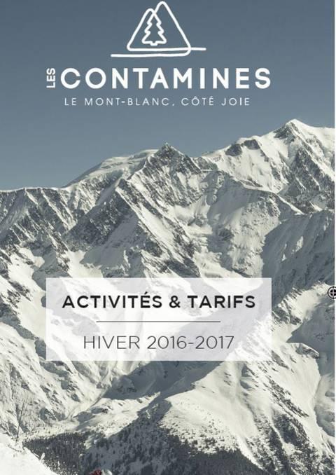 Activités et tarifs hiver 2017