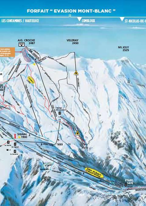 Plan des pistes du domaine skiable