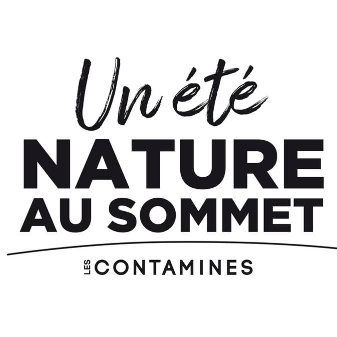 logo un été nature au sommet les contamines