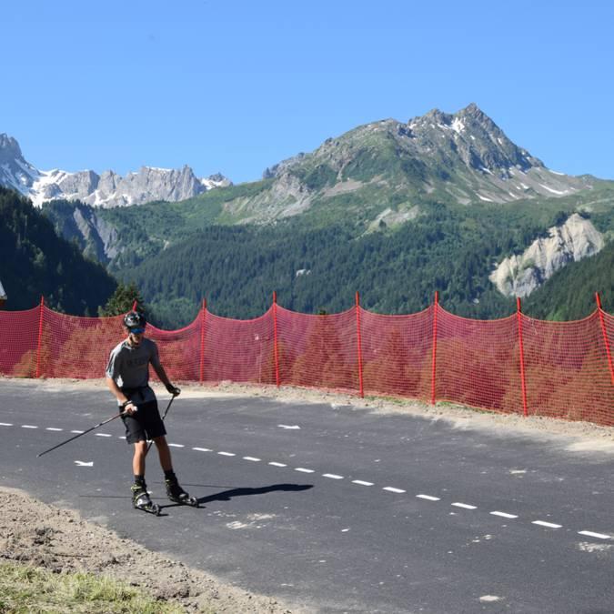 Piste de ski roues Les Contamines Montjoie